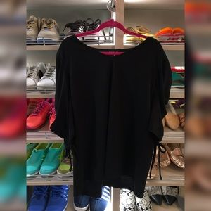 Eloquii Black Blouson Sleeve Top